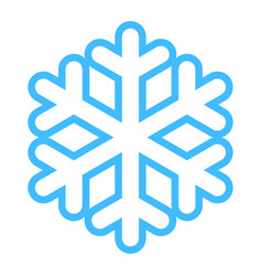 Snowflake low temperature sign vector