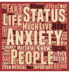 Status anxiety text background wordcloud concept vector