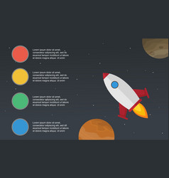 Step style colorful business infographic vector