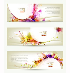 Three headers vector image vector image