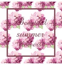 Watercolor Pink flowers Card vector image