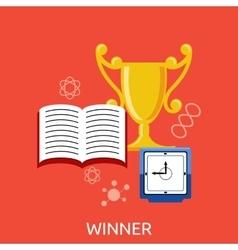 Winner Concept Goblet Design Flat vector image vector image