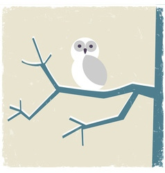 Snowy white owl vector