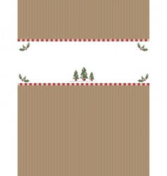 Christmas paper banner vector