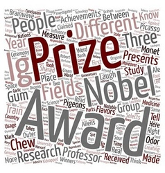 Ig nobel prizes funniest science achievements text vector