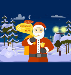 merry christmas and happy new year from santa vector image