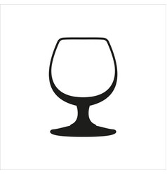 Transparent glass goblets in monochrome style vector