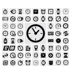 clocks icon vector image