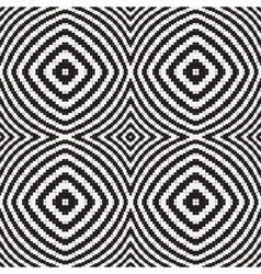 Black white optical geometric seamless pattern vector