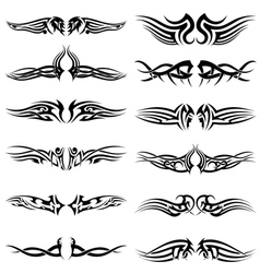Tribal tattoos set vector image