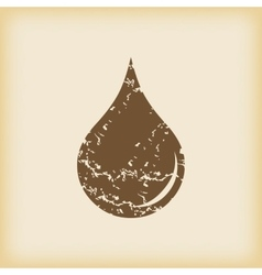 Grungy drop icon vector