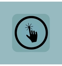 Pale blue hand cursor sign vector