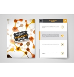 Set of brochure poster design templates in dna vector