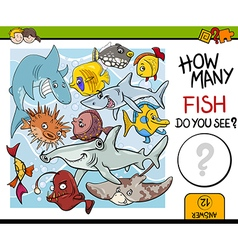 Counting fish preschool task vector