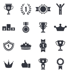 Collection colorful awards icons isolated on white vector