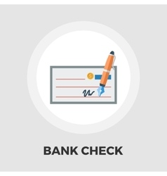 Bank check flat icon vector image