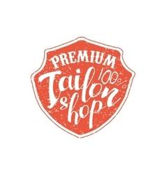 Premium tailor shop vintage emblem vector