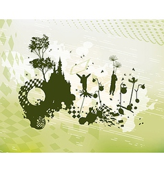 Children Fantasy World Concept Background vector image