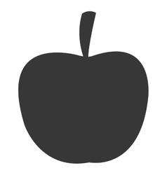Apple silhouette icon silhouette vector