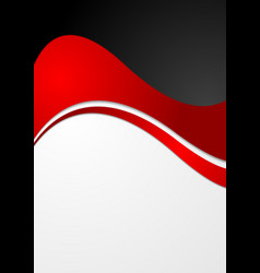 Abstract contrast wavy modern background vector