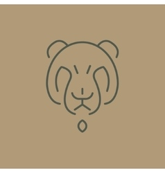 Abstract line drawing of bear head vector