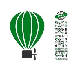 Aerostat balloon icon with bonus vector