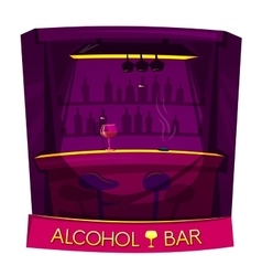 Alcohol bar concept design vector image