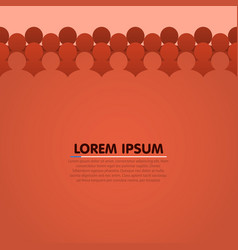 background with people head silhouette vector image vector image