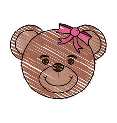 Bear toy child vector