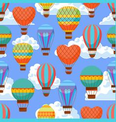 Cartoon air baloons seamless pattern background vector