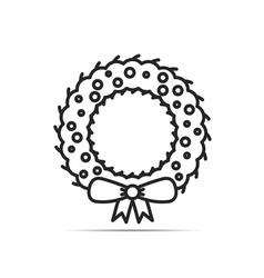 Christmas Wreath Icon vector image vector image