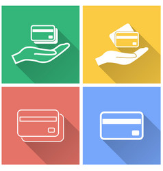 Credit card - icon vector