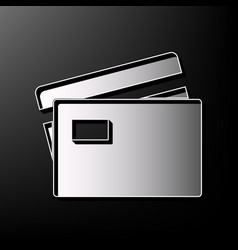 Credit card sign gray 3d printed icon on vector