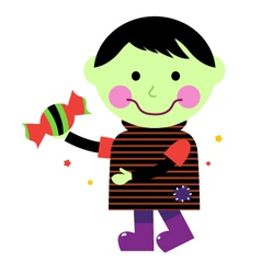 Cute Zombie boy vector image