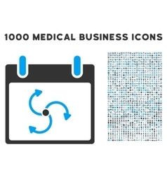 Cyclone calendar day icon with 1000 medical vector