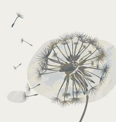 dandelion on a cloud graphic vector image