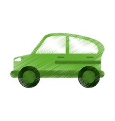 Green car transport industry contamination icon ed vector