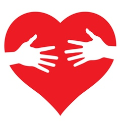 Hands on heart vector image vector image