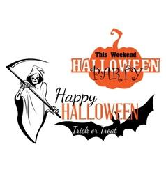 Happy halloween party invitation vector