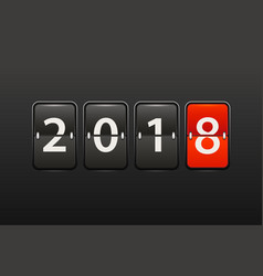 happy new 2018 counter vector image vector image
