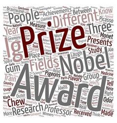 Ig nobel prizes funniest science achievements text vector