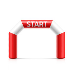 inflatable start line arch red and white vector image vector image