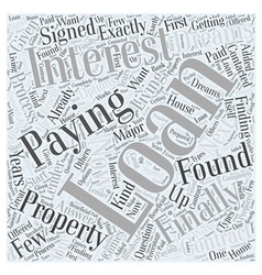 Interested in an interest only loan word cloud vector