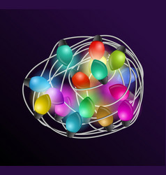 intricate garlands beautiful colorful holidays vector image vector image