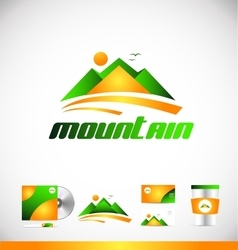 Mountain logo icon design vector