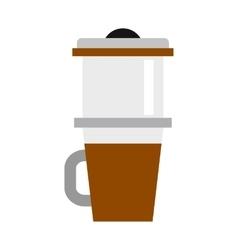 Mug for coffee icon flat style vector image vector image