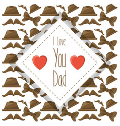 nice card of fathers day celebration vector image