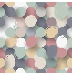 Seamless flat circle background vector image vector image
