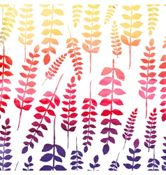 Seamless watercolor floral pattern vector image vector image