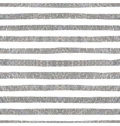 Silver textured seamless pattern of stripes vector